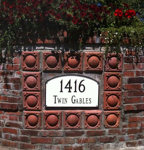 Twin Gables Entrance Sign