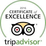 TripAdvisor 2016 Certificate of Excellence