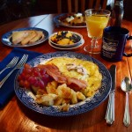 Local eggs omlette at Twin Gables Bed and Breakfast Inn, Skamokawa, WA (800x600)