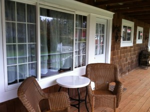 Vacation Rental Front Porch at Twin Gables, Skamokawa, WA