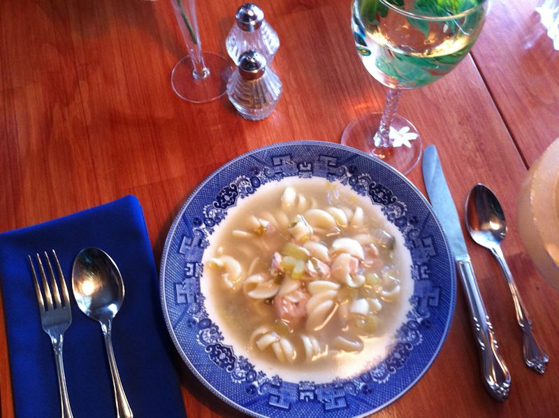 Homemade Chicken Noodle Soup at Twin Gables, a Bed and Breakfast Inn in SW Washington