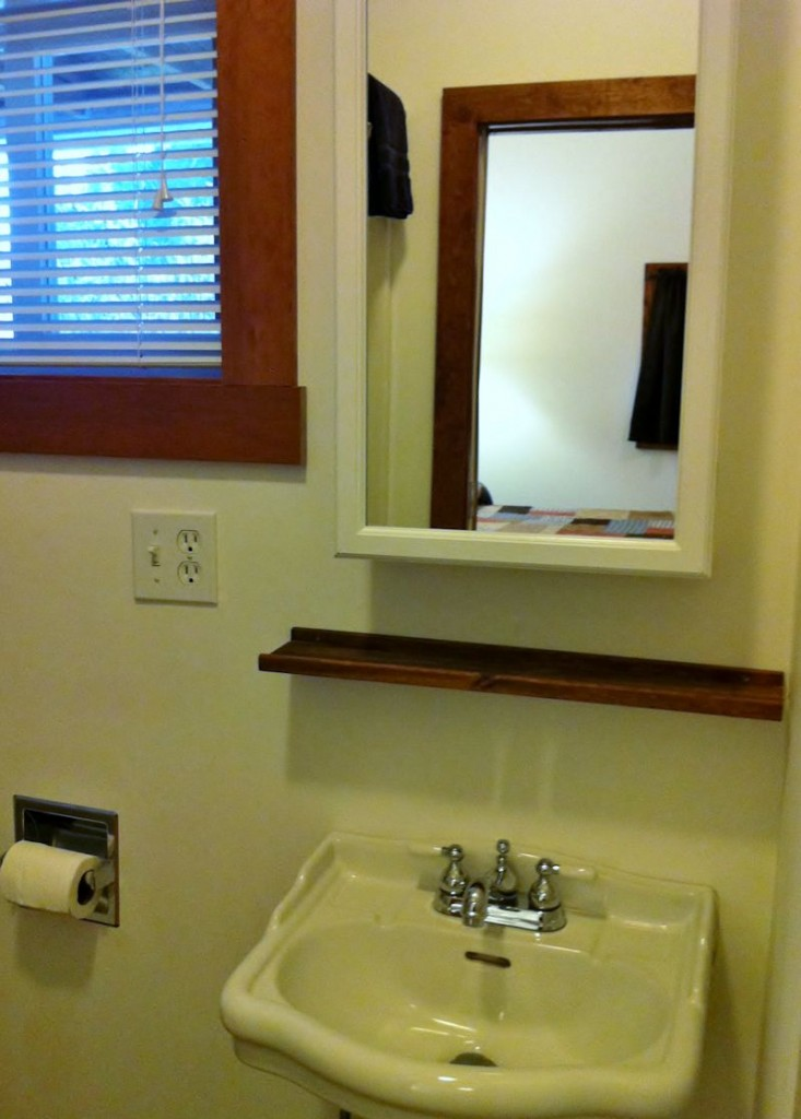 Vacation Rental Bathroom Sink at Twin Gables, Skamokawa, WA