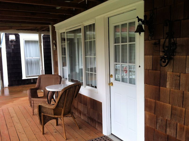 Vacation Rental Front Porch at Twin Gables in Skamokawa, WA